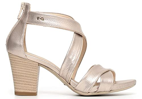 NERO GIARDINI sandali donna pelle platino 37 P805650D 5650