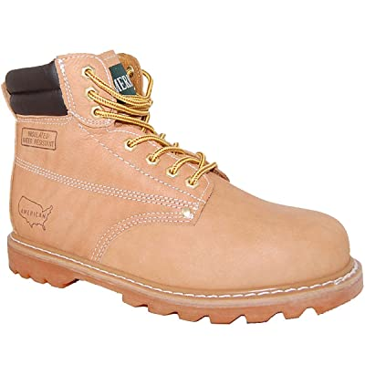 Goodyear WELT Steel Toe 6 Inch Leather Work Boot, Men | Industrial & Construction Boots