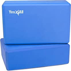 Yes4All High Density Eva Foam Blocks (Set of 2) – Multi Color Available – Non Slip, Scratch Proof Surface & Eco-Friendly