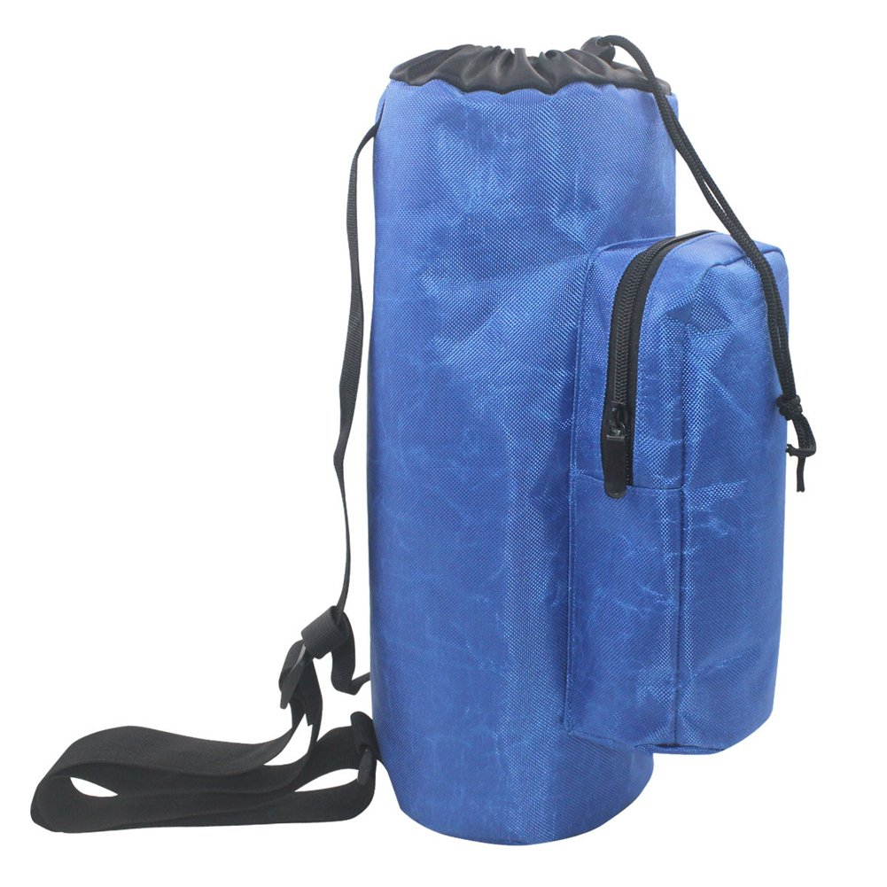 QEES Oxygen Cylinder Tank Backpack Bag Blue Waterproof 1680D Oxford Cloth Oxygen Cylinder Carrier Durable 3mm Pearl Cotton Shockproof YQPD02
