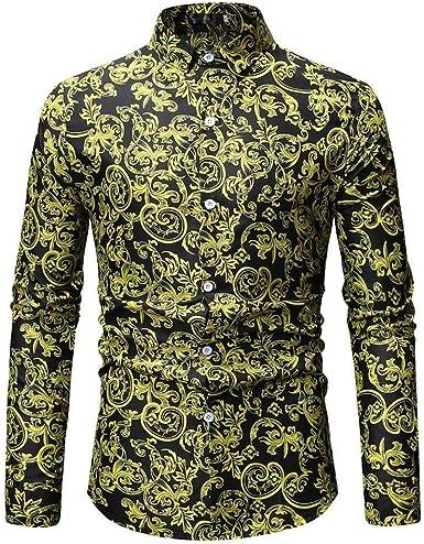 Otoño Invierno para con Camiseta Estampado Hombre 3D Camisa Mode De Marca para Hombre Camisas De Manga Larga De Corte Slim Ocio Boda Trabajo Patrón De Negocios Manga Deportiva Camisetas De Manga: