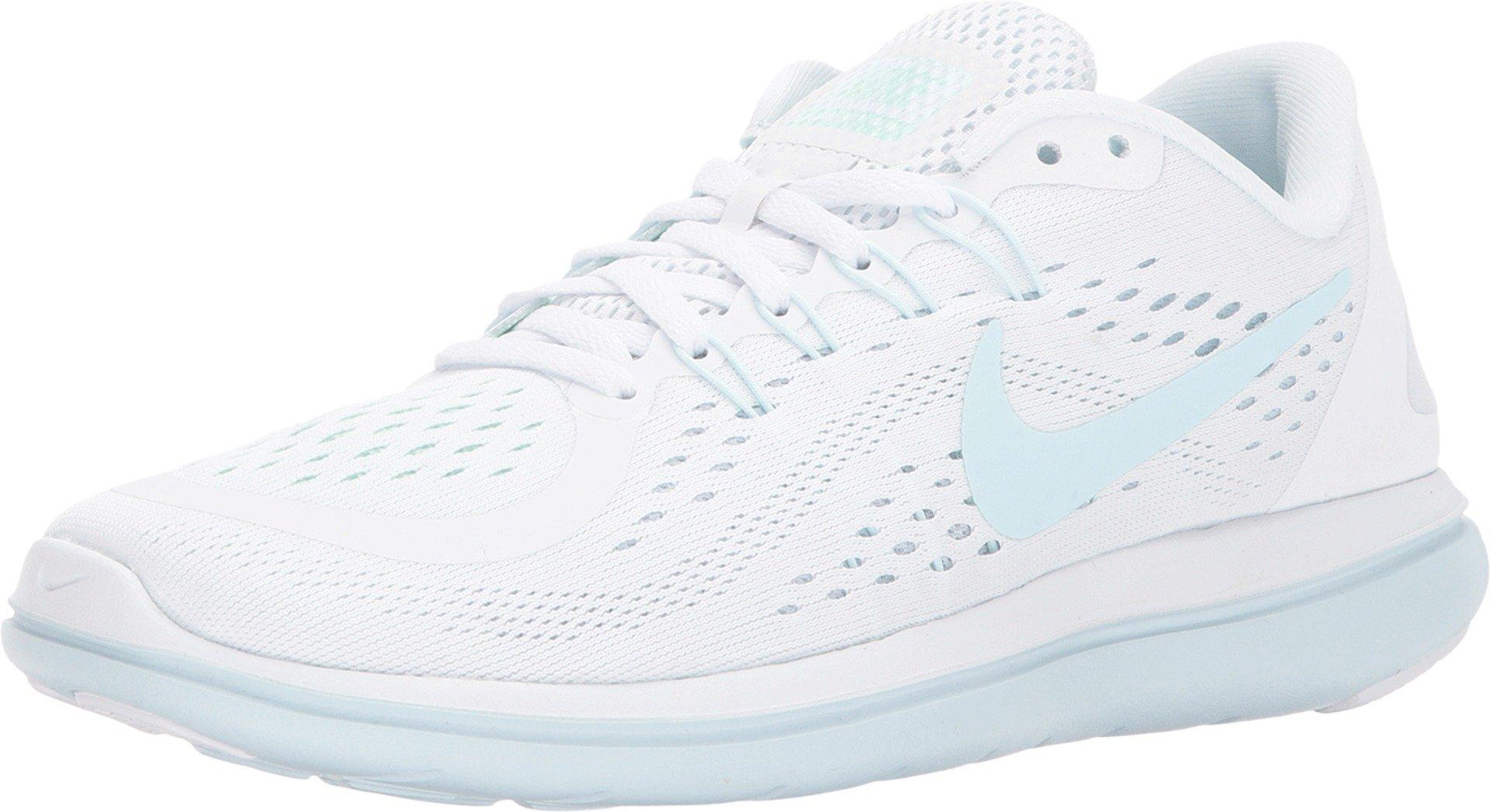 sale retailer 2885d 98141 Nike Women's Free RN 2017 Running Shoe (11 M US, White/Glacier Blue-Blue  Tint)