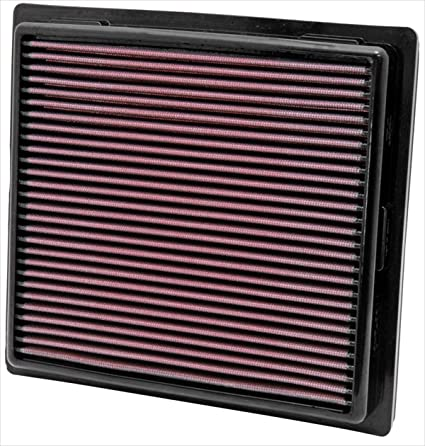 amazon com: k&n 33-2457 high performance replacement air filter for 2011  jeep grand cherokee/dodge durango 3 6l v6/5 7l v8: automotive