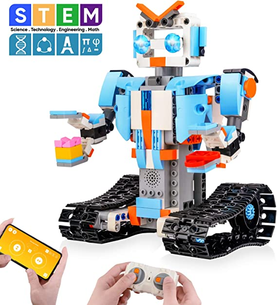 Sillbird STEM Building Blocks Robot for Kids- Remote Control Engineering Science Educational Building Toys Kits for 8