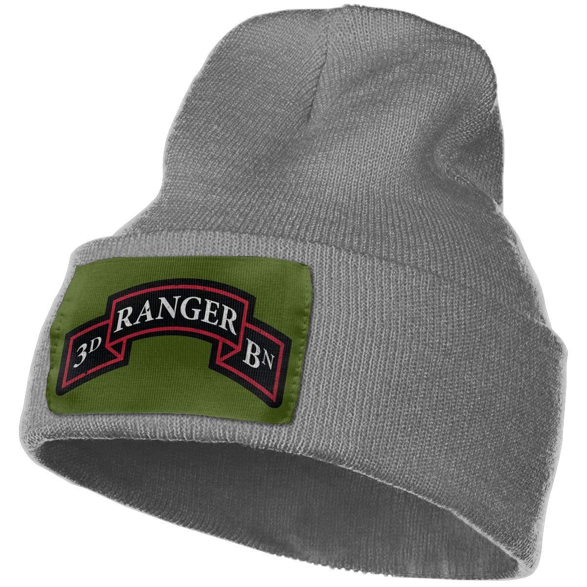 FORDSAN CP US Army Retro 3rd Ranger Battalion Mens Beanie Cap Skull Cap Winter Warm Knitting Hats.