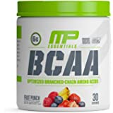 Muscle Pharm Essentials BCAA Powder, Post-Workout Recovery Drink, Fruit Punch, 30 Servings