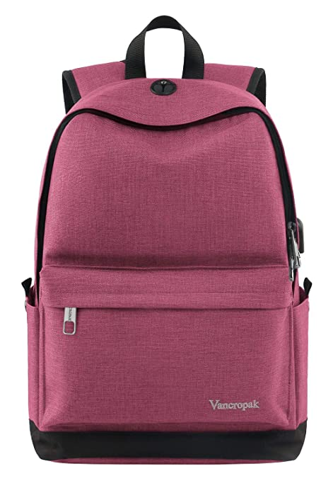 0fcd5f61f9a2d2 Vancropak Student Backpack for Women, College High School Laptop Backpack  with Charger for Men Girls
