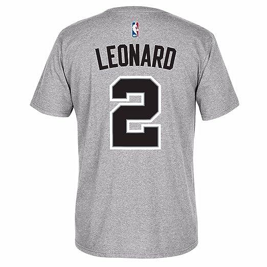 b4b9e4a4c06a real adidas mens short sleeve khawi leonard san antonio spurs player t shirt  9386e 15814