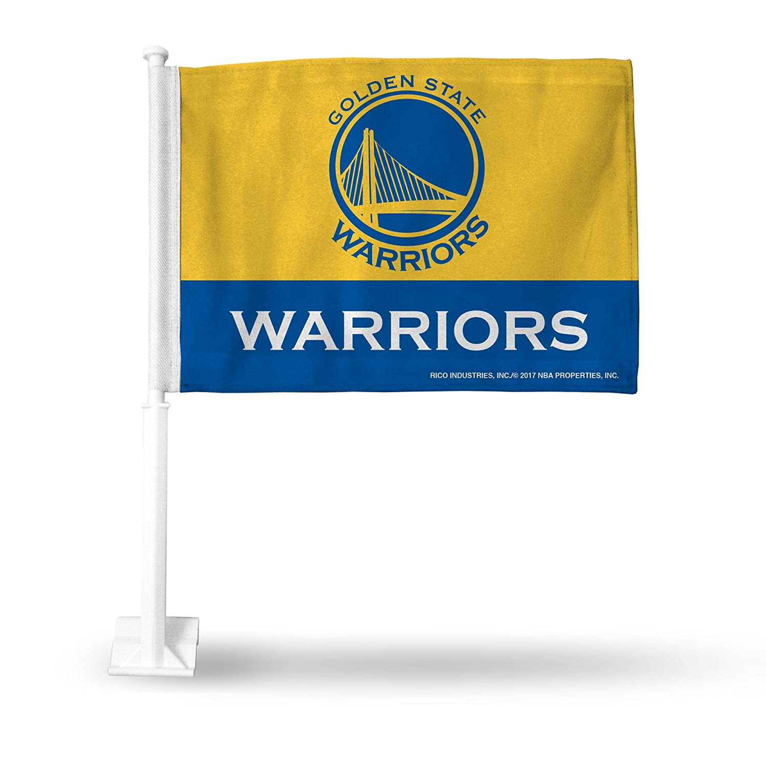 NBA Golden State Warriors Two Tone Car Flag R I