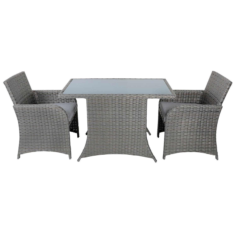 Aruba Rattan Wicker Balcony Bistro 2 Seat Garden Furniture Table