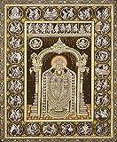 Lord Venkateswara with Dashavatara of Vishnu and Shri Krishna Lila - Water Color Painting on Tussar