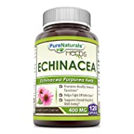Pure Naturals Echinacea Supplement, 400 Mg Capsules -Made from Pure Echinacea Purpurea Root &