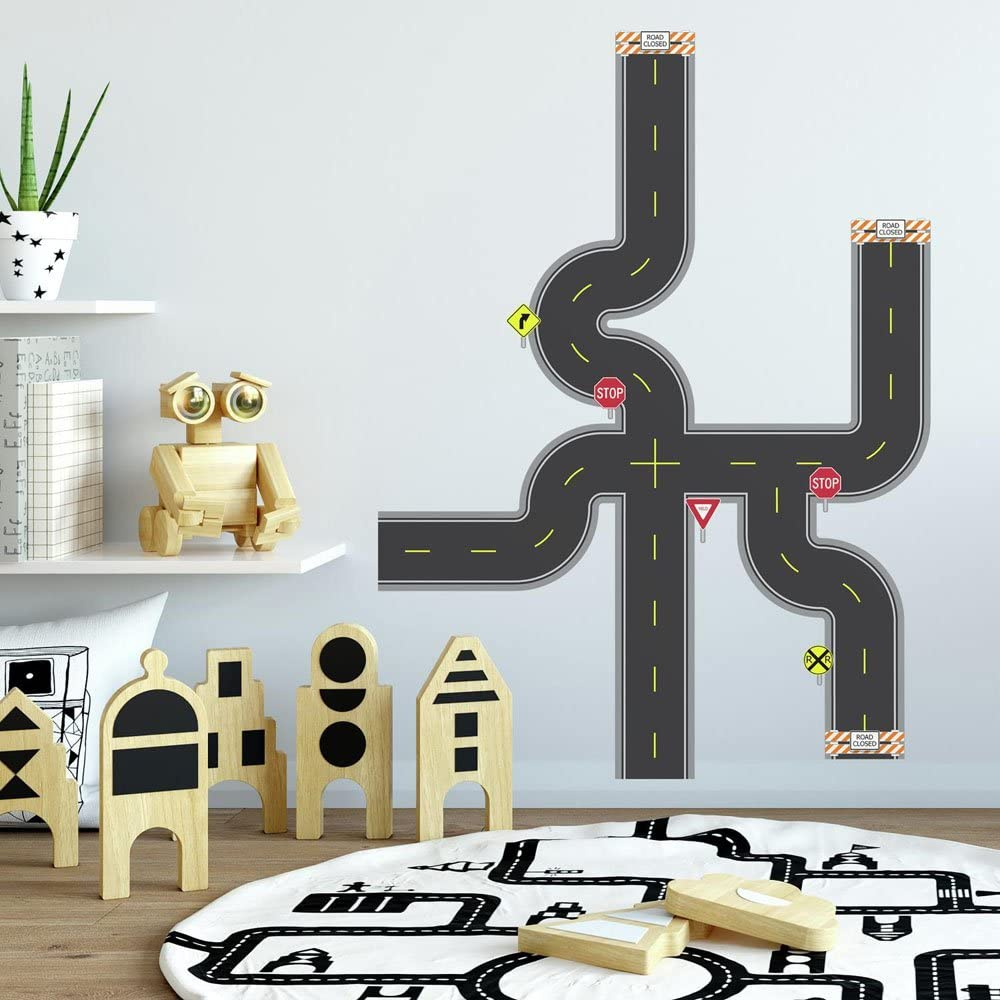 RoomMates Build-A-Road Peel and Stick Wall Decals
