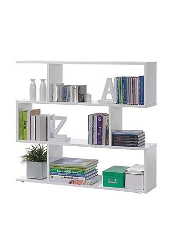 Bücherregal Niedrig bücherregal niedrig glänzend weiß maße 110 x 97 x 25 cm amazon