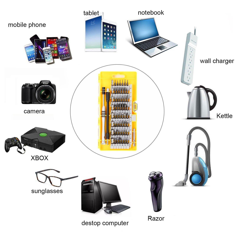 60 En 1 Destornilladores De Precisión,Kit De Herramientas Reparación Profesional Con 56 Puntas, Componentes Para iPhone y teléfonos ...