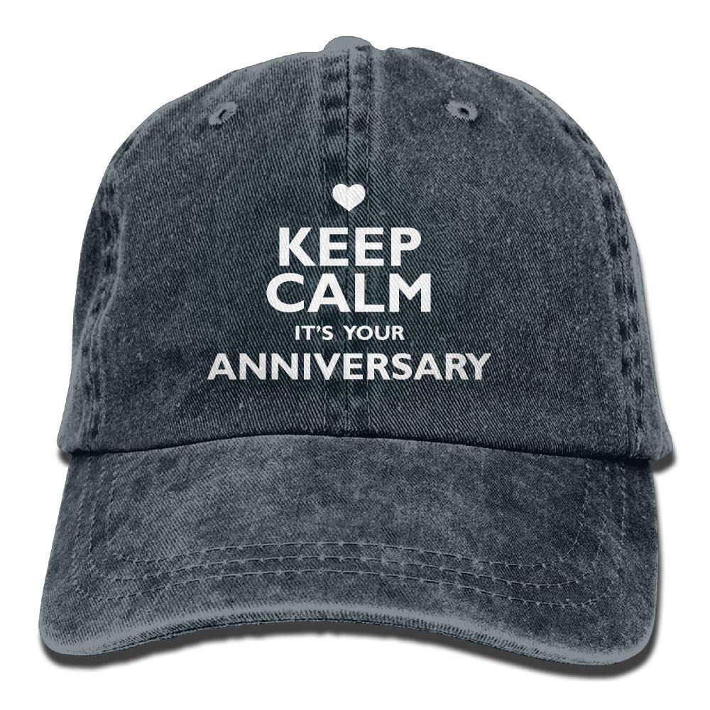 Madoling Keep Calm Its Your Anniversary Adjustable Washed Cap Baseball Hat