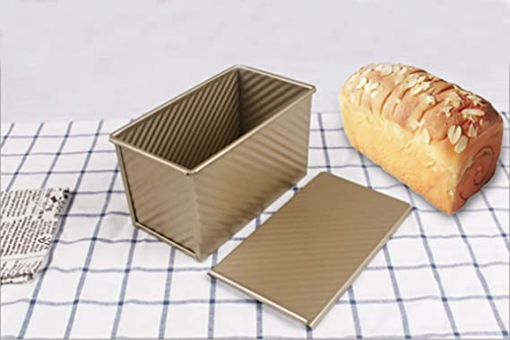 Molde para pan, antiadherente, de acero al carbono, con tapa ...