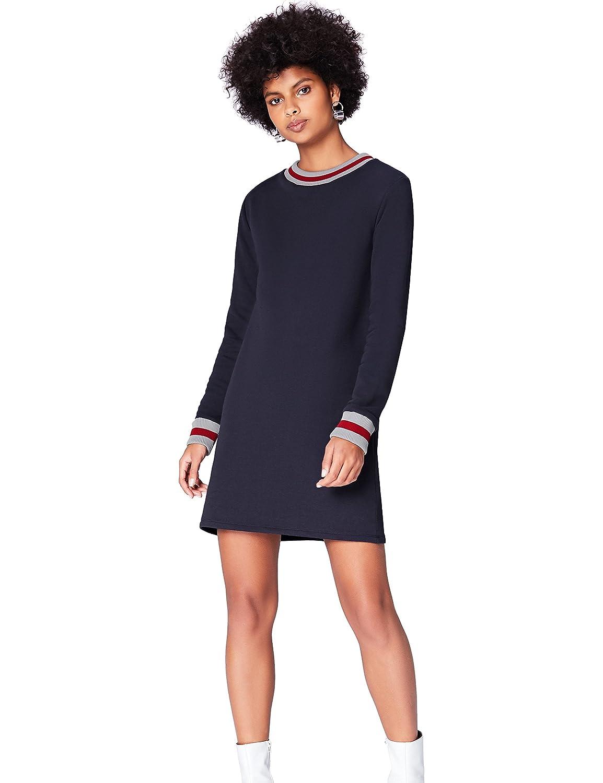 TALLA 36 (Talla del fabricante: X-Small). find. Vestido Mini Estilo Sudadera para Mujer Blau (Blue) 36 (Talla del fabricante: X-Small)