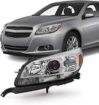 Amazon Com For 13 15 Chevy Malibu Lt Ltz Eco Models Chrome Headlight Front Lamp Driver Left Side Driect Replacement Automotive