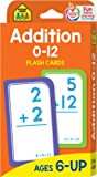 Image for School Zone - Addition 0-12 Flash Cards - Ages 6 and Up, 1st Grade, 2nd Grade, Numbers 0-12, Math, Problem Solving…