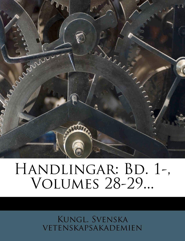 Handlingar: Bd. 1-, Volumes 28-29... (Swedish Edition) pdf