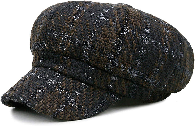 Cotton Newsboy Caps Women Spring Autumn Baker Boy Vintage Octagonal Cap Lady Hats Elastic Casual British Beret