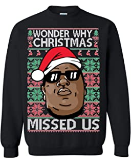 Hanes Ugly Christmas Sweatshirt Cat Ugly Christmas Sweater Wonder Why Christmas Missed Us