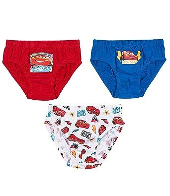 6c7e8d71e7 Disney Cars Pack of 3 Briefs Pants Underwear  Amazon.co.uk  Clothing