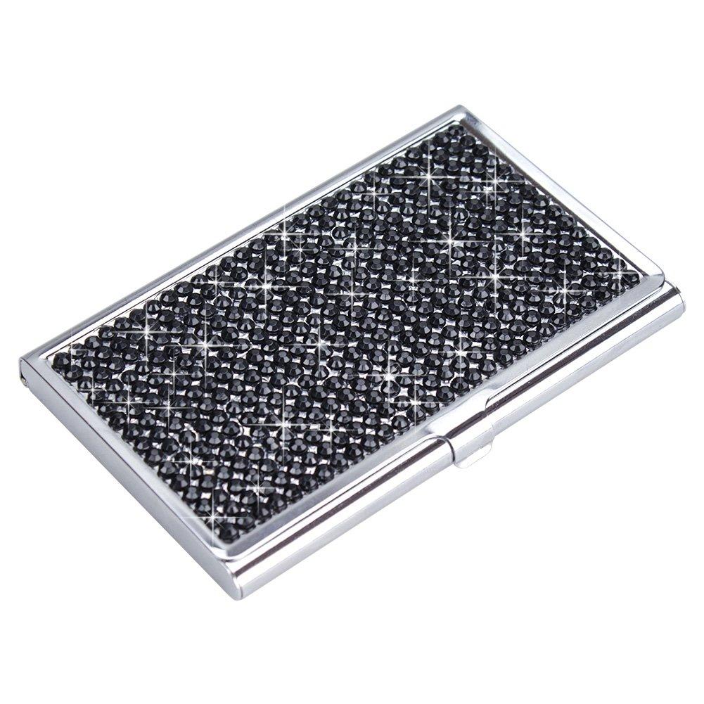TASIRO Handmade Bling Rhinestones Stainless Steel Business Card ...