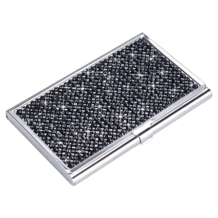 Amazon tasiro handmade bling rhinestones stainless steel tasiro handmade bling rhinestones stainless steel business card holder black colourmoves
