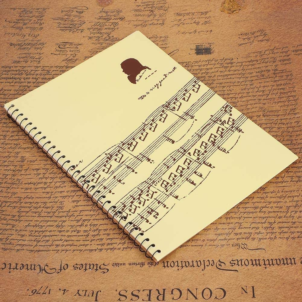 Musical Notation Staff Notes Book Notepad Music Manuscript Writing Paper #2