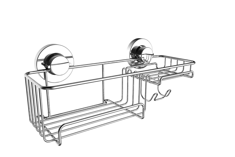 Britten /& James/® Soporte superior para rollo de papel higi/énico con ventosa Sin perforaci/ón sin herramientas y sin da/ños Acero inoxidable a prueba de /óxido.