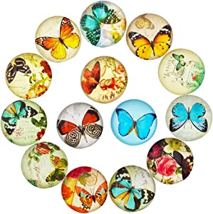14pcs Butterfly Refrigerator Magnets Beautiful Fridge Photo Decorative Glass Popular Funny Office Cabinets Whiteboards Best Housewarming Gift (butterfly)