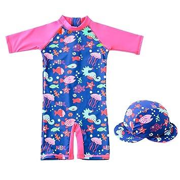 25c63bf1fe8 Kids Swimwear Girls Swimsuits Anti-UV Sun Safe Swimming Beach Costume Child  All-in