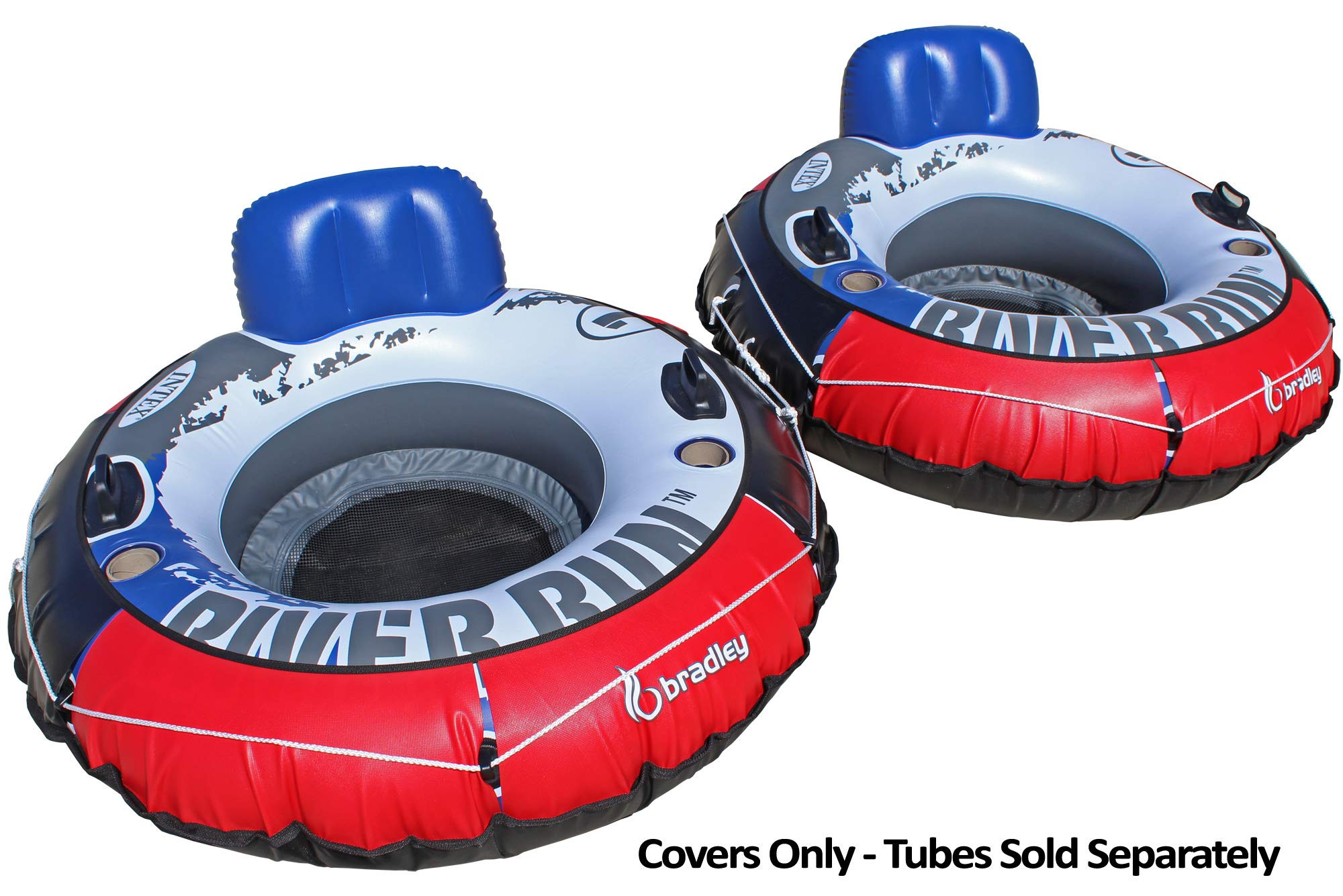 Bradley Heavy Duty River Tube Cover (2 Pack) | Compatible with Intex River Run, Inflatable River Tubes by Bradley