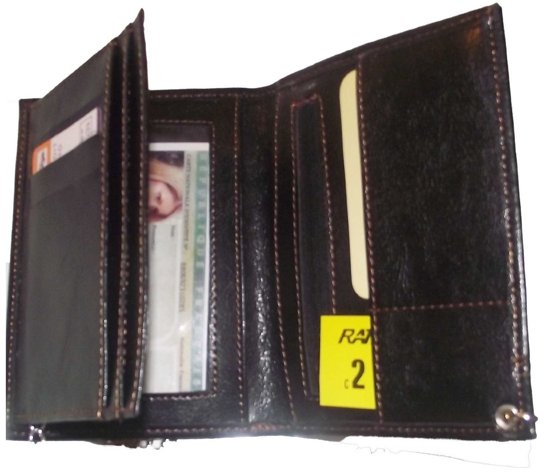 Pochette Etui Portefeuille Homme, porte monnaie, cartes, papiers Racing avec chaine