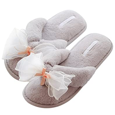 Amazon.com | Caramella Bubble Terry Spa Thong Slippers | Women\'s ...