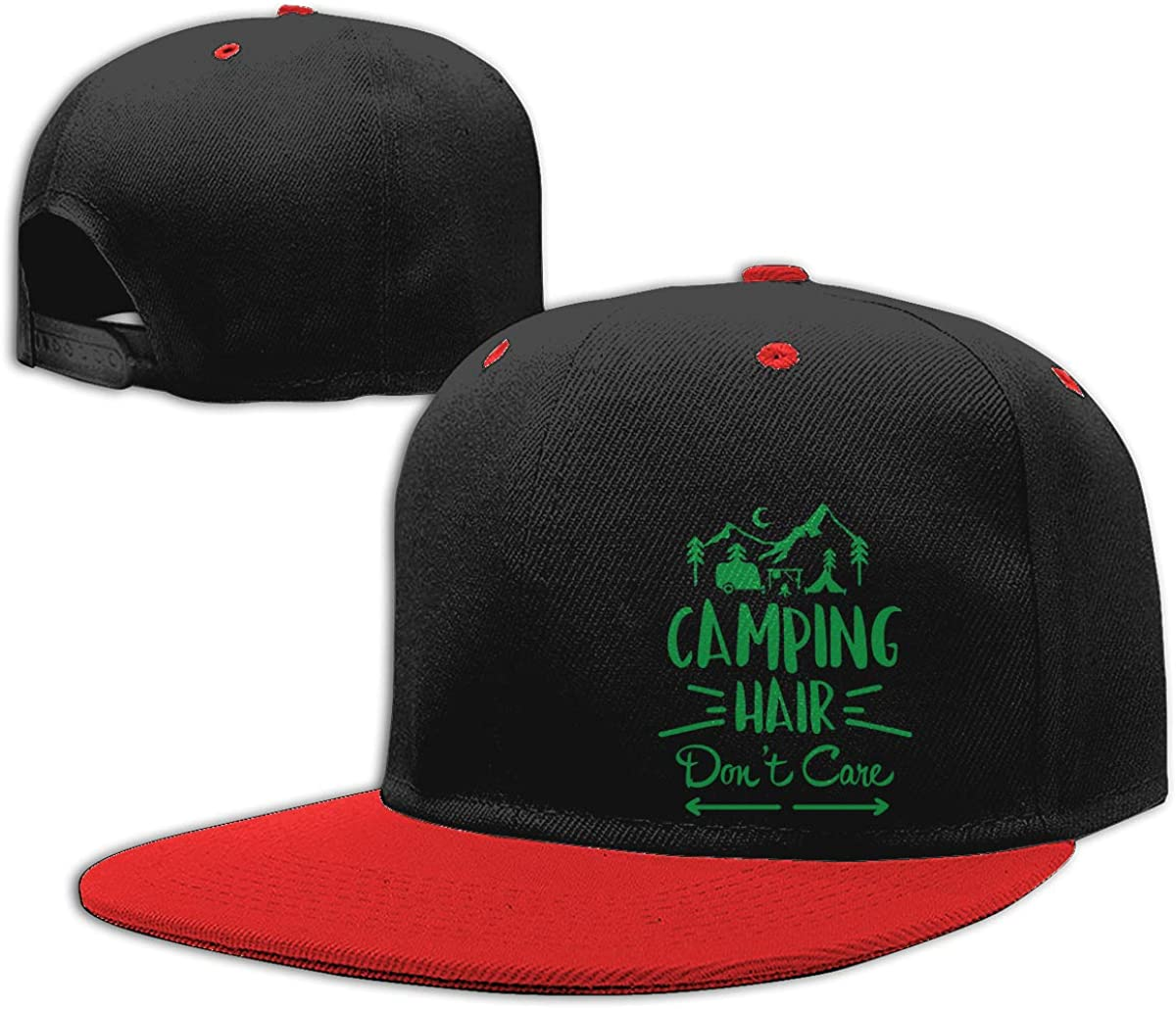 Camp Hair Dont Care1-1 Adults Hip-Hop Baseball Caps NMG-01 Women Men Plain Cap