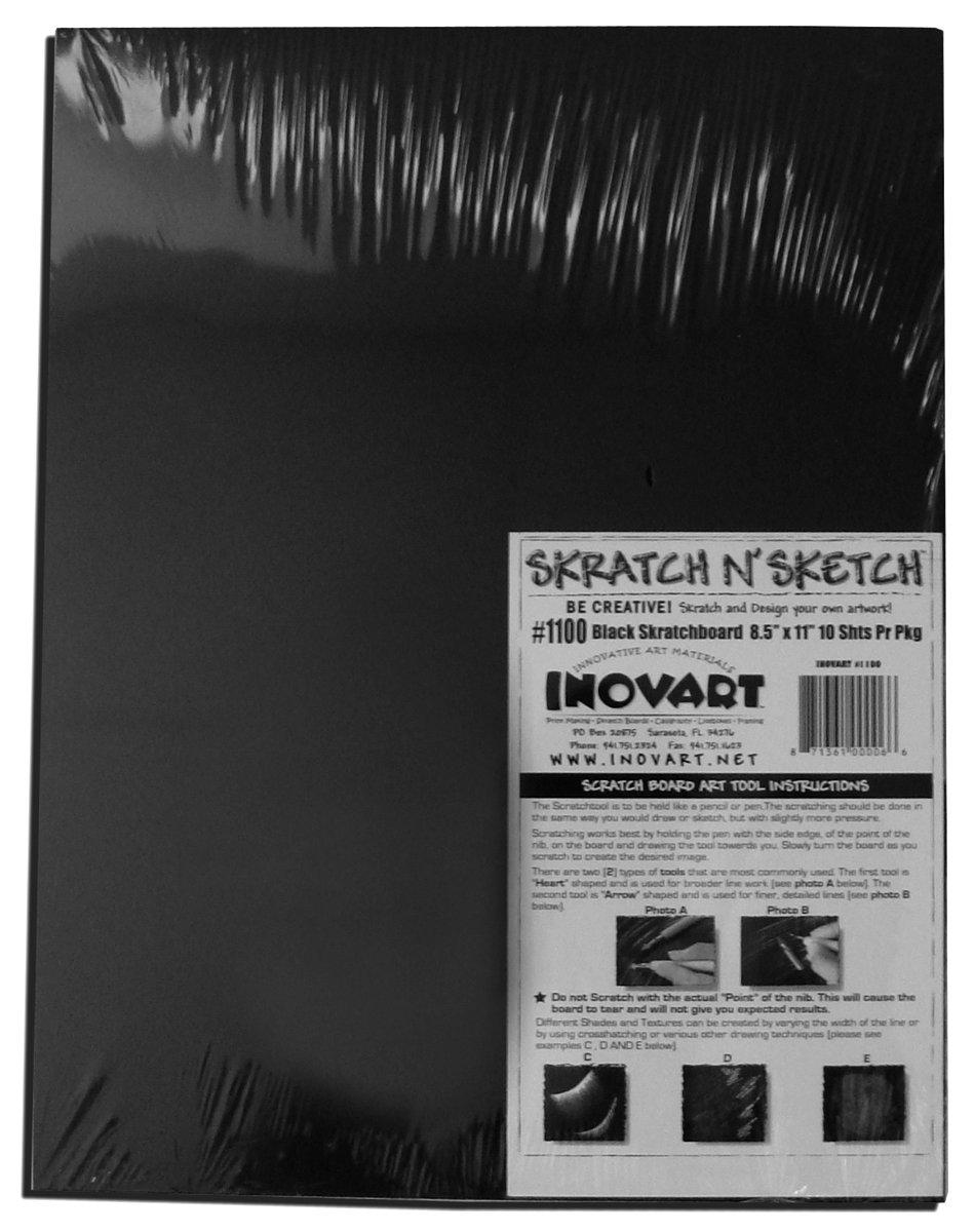 moda clasica Inovart Inovart Inovart negro Scratchboard 11  x 14   buena calidad