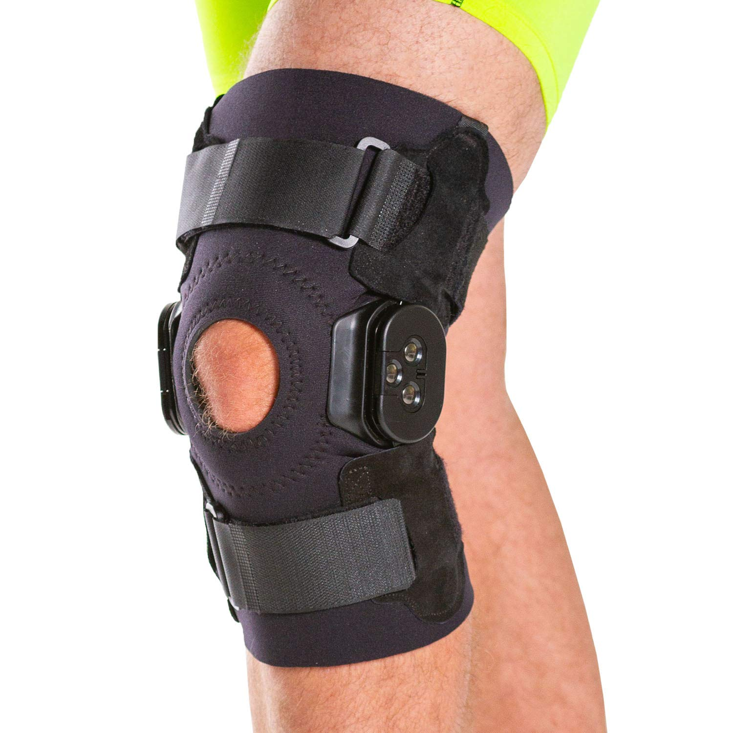 BraceAbility Torn Meniscus ROM Knee Brace | Hinged Post Surgery Support with Flexion / Extension Control for Hyperextension & Locking Treatment, Ligament (PCL / ACL) Tears, Osteoarthritis (M)