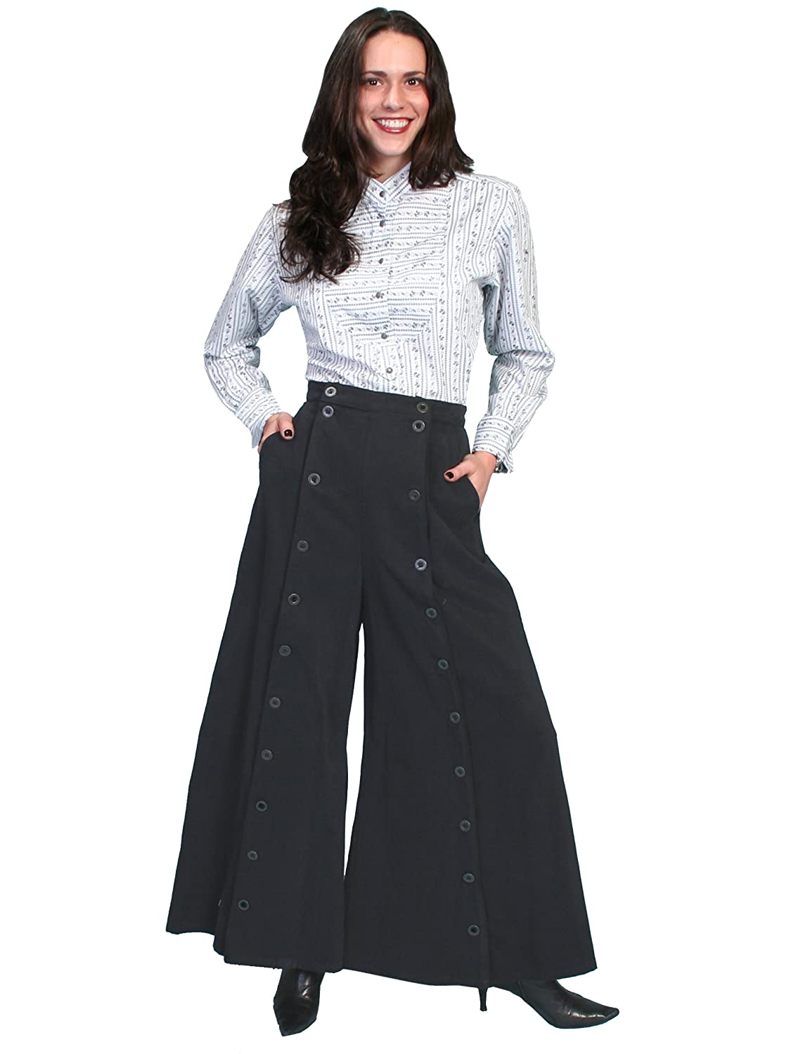 Steampunk Skirts | Bustle Skirts, Lace Skirts, Ruffle Skirts Scully Rangewear Womens Rangewear Brushed Twill Riding Skirt $91.34 AT vintagedancer.com
