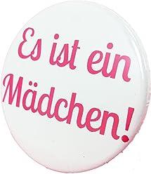Es ist ein Mädchen Button - Anstecker Babyshower Mama Geschenk Geburt Birth Baby Girl 3,8 cm JGA