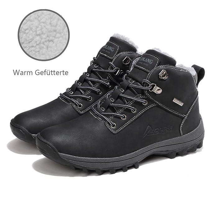 Sixspace Hombre Botines Zapatos Botas de Nieve Invierno Cortas Fur Aire Libre Boots: Amazon.es: Zapatos y complementos