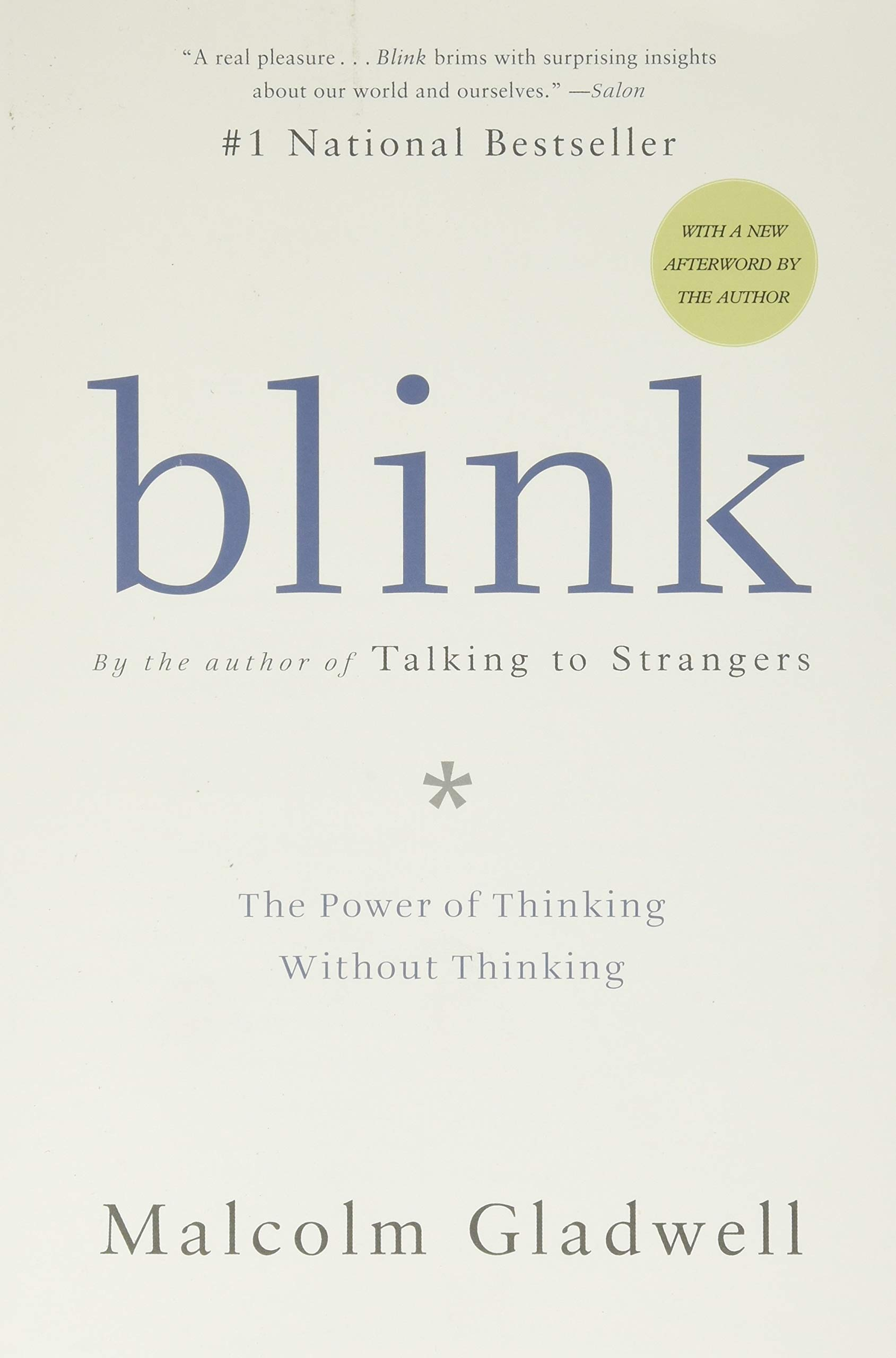 Thesis of blink malcolm gladwell essay on reducing garbage
