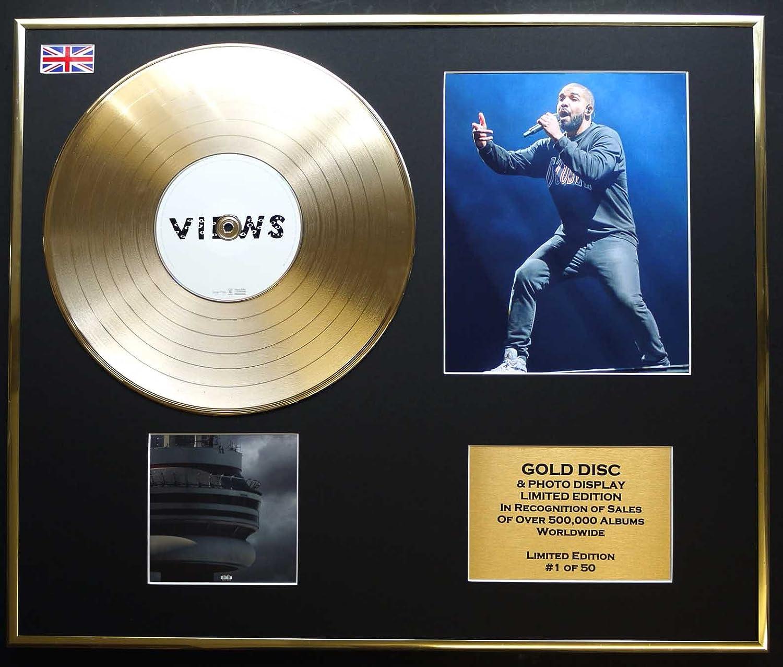 Drake Gold Disc Record Photo Display Limited Edition Coa Views Küche Haushalt