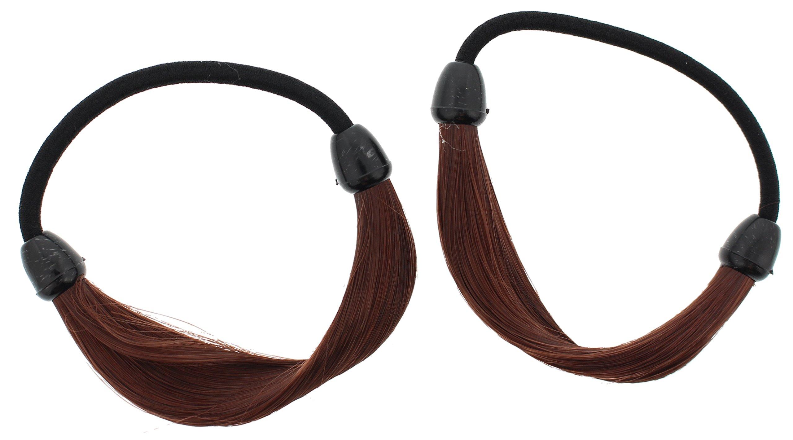 Making Waves Smooth Faux Hair Ponytail Holder (2Pcs) (Auburn)