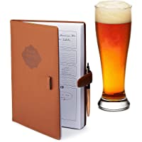Home brew Journal for Craft Beer Homebrewers | Homebrew Logbook w/ space for 70+ recipes | Beer Glassware Reference…