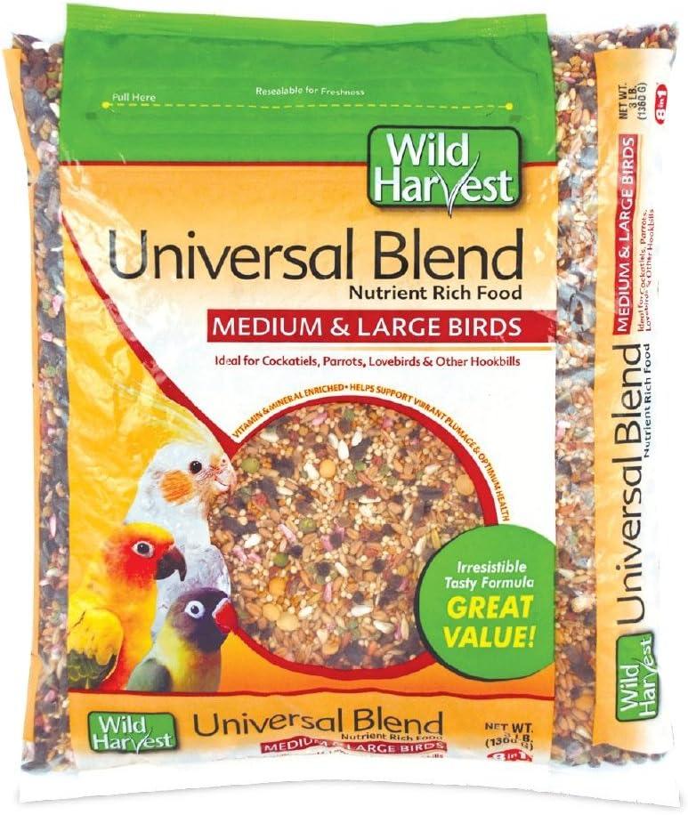Wild Harvest A1204 Wh Daily Blend Univ Med/Lg Bird 3# Bag