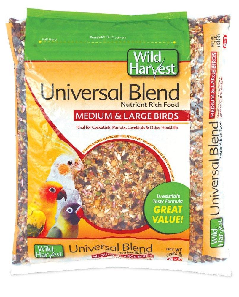 Wild Harvest A1204 Wh Daily Blend Univ Med/Lg Bird 3# Bag Tetra
