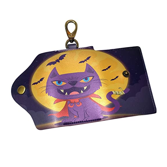 Amazon.com: Halloween Ghost Cat Key Case Bag Leather Keys ...